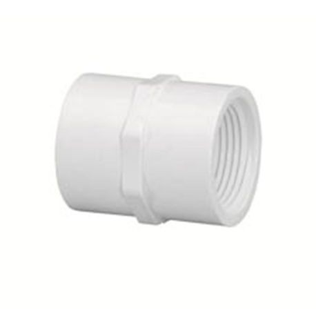 "Spears - 1"" Sch40 PVC Threaded Coupling FPTxFPT"