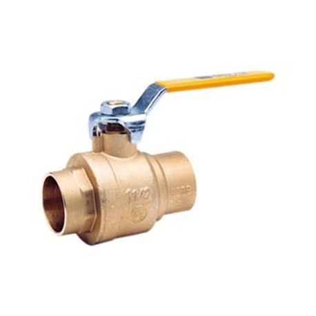 "Watts - 1-1/2"" Bronze Ball Valve Sweat Ends"