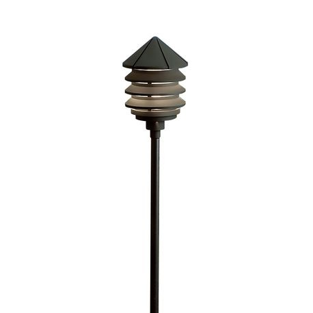 Kichler - Three-Tier 24.4W Incandescent Path Light - Textured Black - No Riser