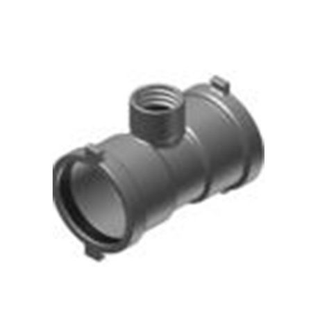 "Harco - 6"" Ductile Iron IPS Swivel Joint Lateral Connection Swivel Tee"