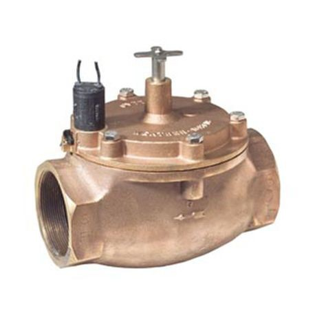 "Weathermatic - 1-1/4"" Red Brass Valve - 24 VAC with  Flow Control"