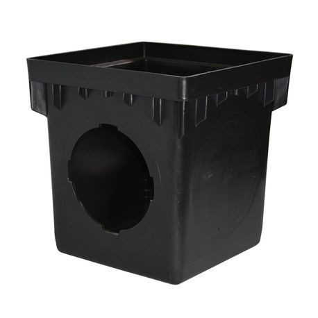 "NDS - 9"" Black 2 Openings Catch Basin"