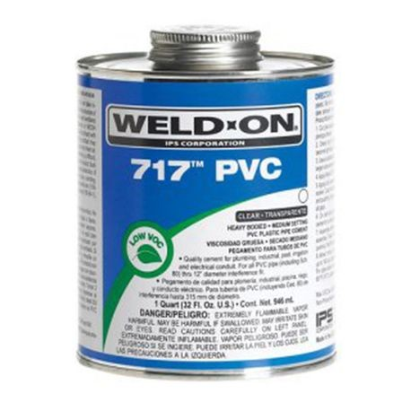IPS - 717 PVC Clear Cement, Quart, Heavy Bodied, Medium Setting