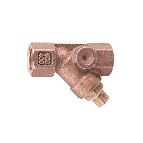 "Watts - 1"" Bronze Wye Strainer With Tapped Plug"