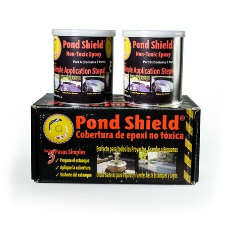 Stoney Creek - Pond Shield For Concrete Fountains- 1-1/2 Quart, Black