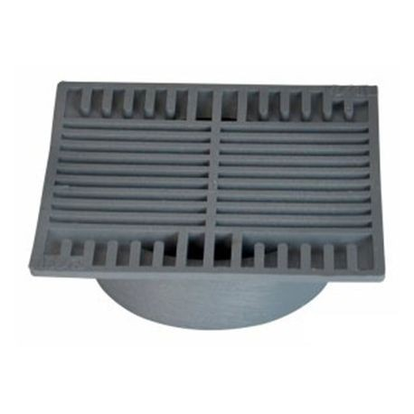 "NDS - 8"" Gray Square Grate"