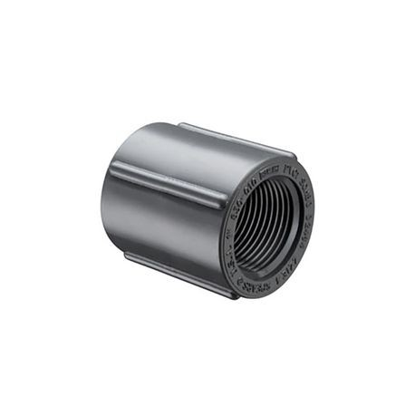 "Spears - 1"" Sch80 PVC Threaded Coupling FPT X FPT"