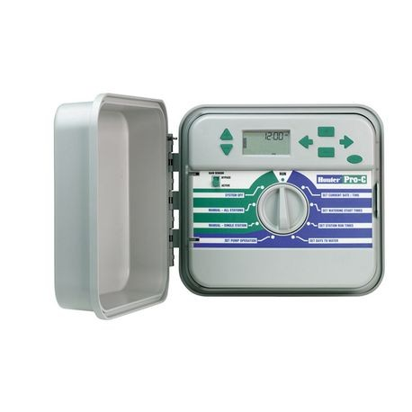 Hunter - 6 Station Indoor Controller With Plug-In Transformer Plastic Cabinet