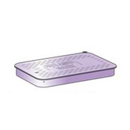 "Purple ""Reclaimed Water"" Standard Irrigation Turf Box Lid, T-Top, No Lock"