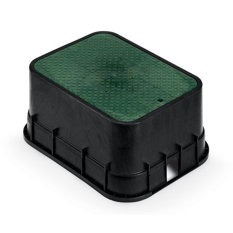 "Rain Bird - 12"" Jumbo Valve Box with Green Lid"