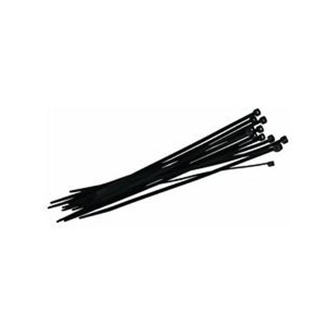 "T Christy Enterprises - 11"" Black UV Cable Tie (100 Per Bag)"