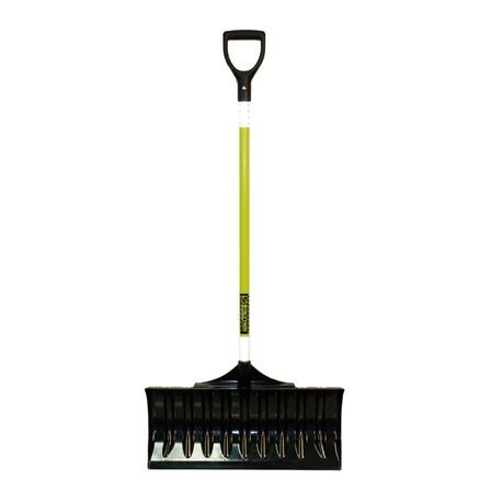"Structron - Safety Snow Pusher, 24"" 50/50 Polycarbonate & ABS Blend Blade, no wear strip, 44"" Fiberglass Handle, Poly D-grip"