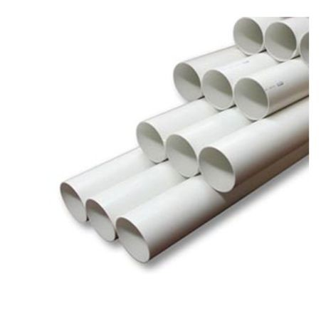"Cresline - 4"" X 10' White DS Pipe Non-Perforated Bell End"