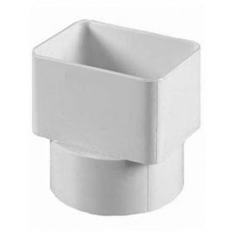 "Multi Fittings - 3"" X 3"" X 2"" PVC Sewer Downspout Adapter"