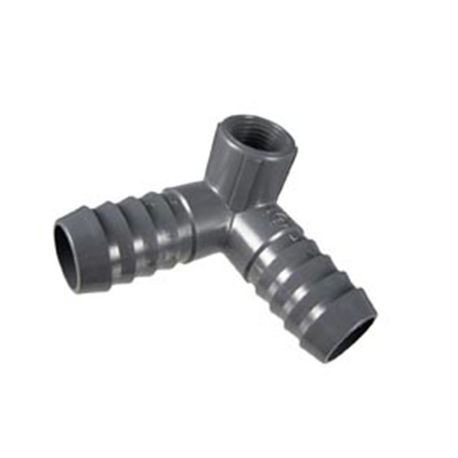 "Spears - 1"" X 1/2"" PVC 90&deg Reducing Side Outlet Elbow Tee"