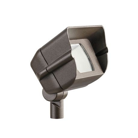 Kichler - Mini-Hooded 35W Incandescent Adjustable Wide Flood Light - Textured Architectural Bronze