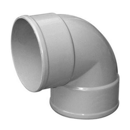 "Multi Fittings - 4"" PVC Sewer 1/16 Bend Street Elbow"