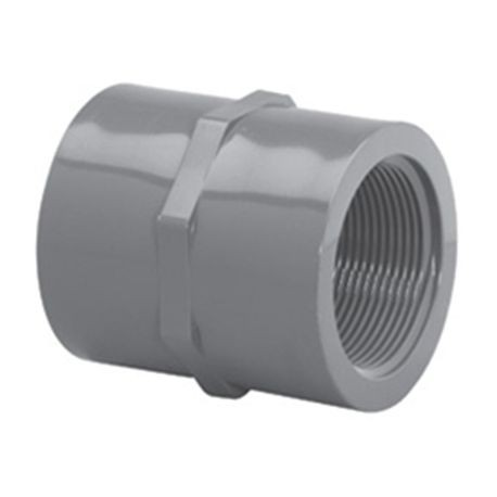 "Spears - 1-1/4"" Sch80 PVC Threaded Coupling FPT X FPT"