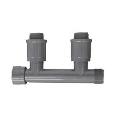 "Spears - Residential & Commercial Irrigation Ultrazone 1"" Valve Connectors Double Tee Nut X MTHD X MVCONN"