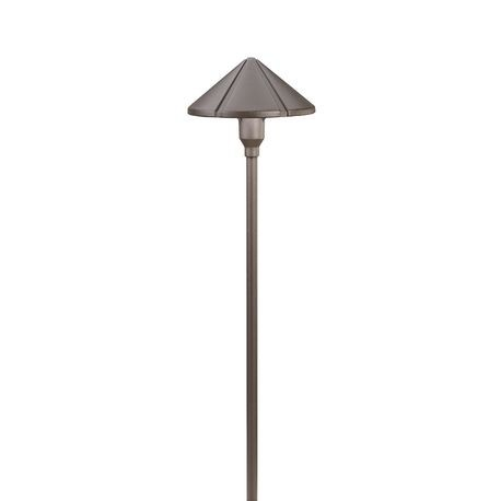 Kichler - Center Mount 24.4W Incandescent Path Light - Textured Architectural Bronze