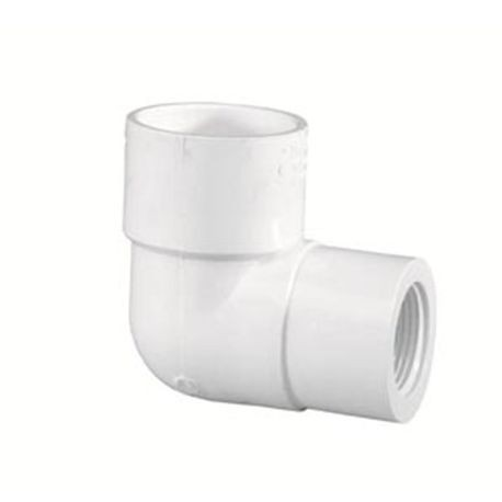 "Spears - 1-1/4"" X 1"" Sch40 PVC Reducing 90° Elbow Slip X FPT"