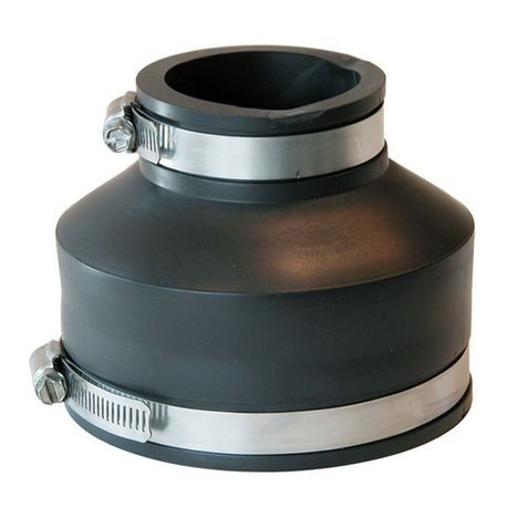 "Fernco - 4"" Cast Iron/PVC X 2"" Cast iron/PVC Flexible Coupling"