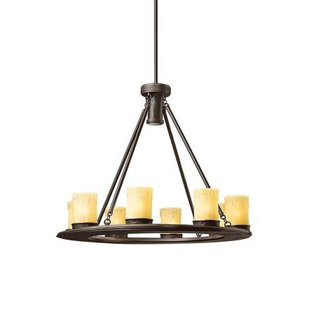 Kichler - Oak Trail Outdoor Chandelier, Bronze