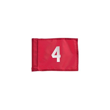 Standard Golf - Tube Style Nylon Numbered Flag - Orange with Black Numbers - Set 1-9