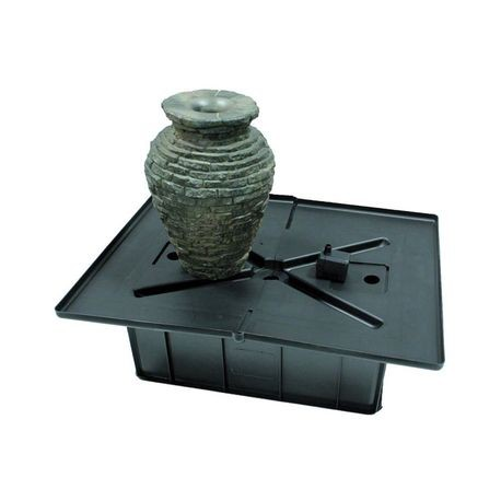 "Aquascape - Mini Stacked Slate Urn Fountain Kit 12.75""L X 12.75""W X 18.5""H"