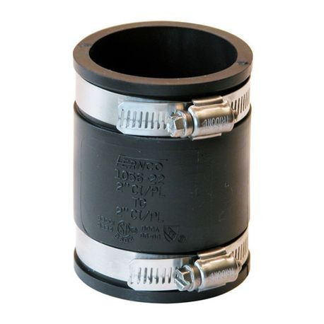 "Fernco - 2"" X 2"" Cast Iron/PVC Flexible Coupling"
