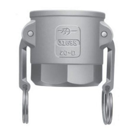 "P-T Coupling - 2-1/2"" Aluminum D-Coupler - Coupler X Female NPT Thread"