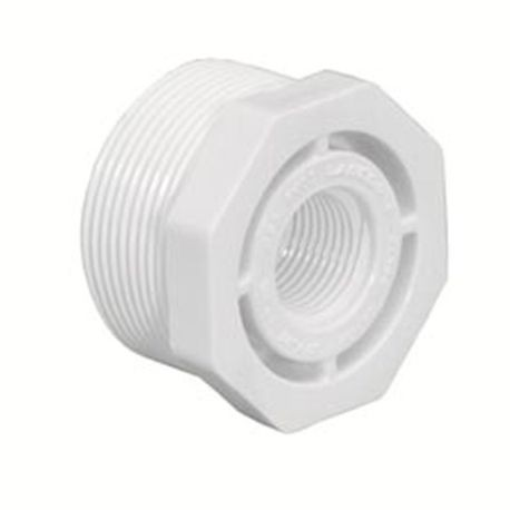 "Spears - 1-1/2"" X 1/2"" Sch40 PVC Threaded Reducer Bushing MPTxFPT"