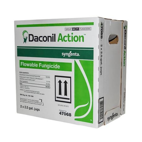 Syngenta - Daconil Action Fungicide, 2 5 GAL JUG - Case of 2