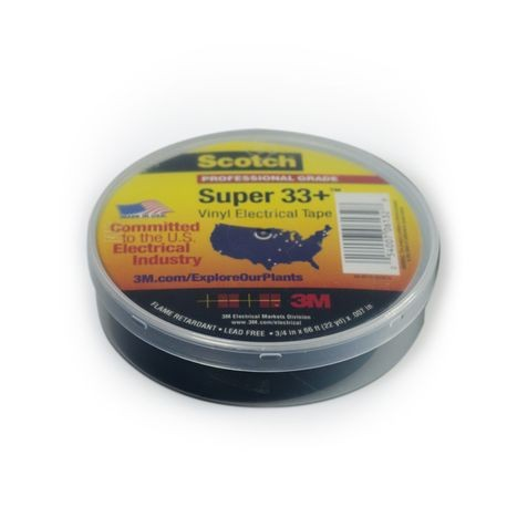"American Granby Company  - 33+ Electrical Tape Black 3/4"" X 66'"