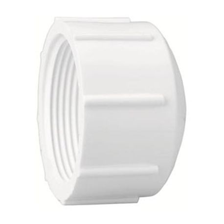 "Spears - 4"" Sch40 PVC Threaded Cap FPT"