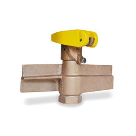 "Hunter - 1"" Quick Coupler, 1 Slot,  2-Piece Red Brass and Stainless Steel Body, Yellow Cover"