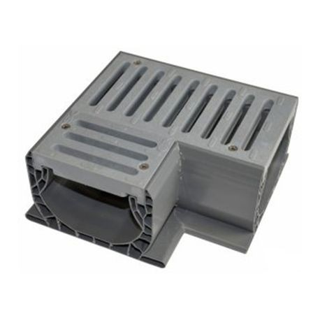NDS - Gray Spee-D Channel Fabricated 90° Corner and Grate