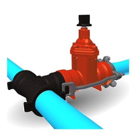 "Harco - 4"" Ductile Iron IPS Fitting to Valve to Pipe Joint Restraint"