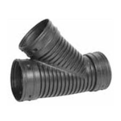 "Advanced Drainage Systems - 8"" Single Wall Wye Corrugated Fitting"
