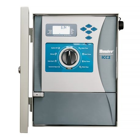Hunter - ICC2 8 Station Controller with Stainless Steel Outdoor Wall Mount