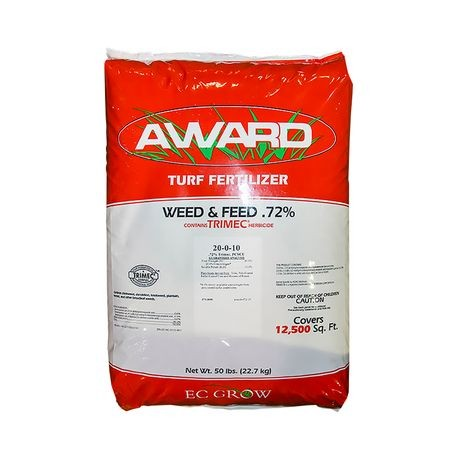 20-0-10 Weed and Feed Fertilizer - 30% PCSCU with .72% Trimec