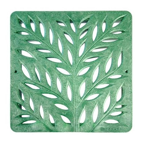 "NDS - 12"" X 12"" Green Square Botanical Grate"
