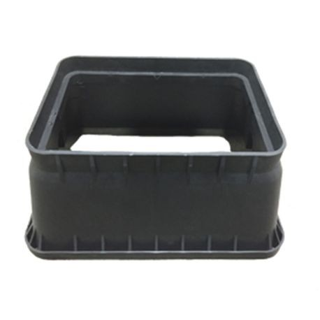 Jumbo Black Irrigation Turf Box with Closed Mouse Holes