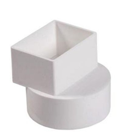 "Multi Fittings - 4"" X 4"" X 3"" PVC Sewer Downspout Adapter"