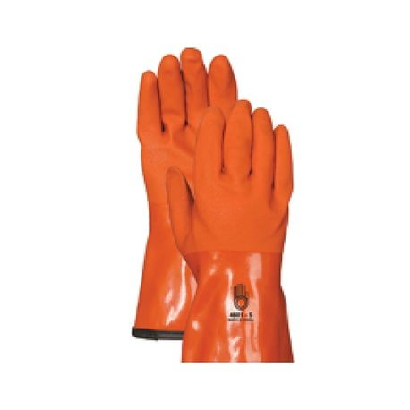Winter Insulated Gloves; Large, Orange