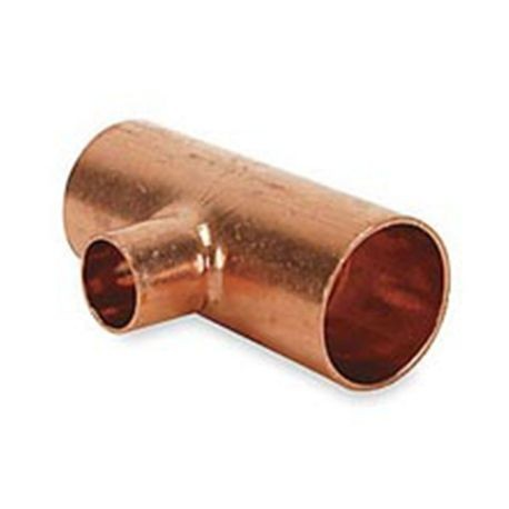 "1-1/4"" X 1-1/4"" X 1"" Copper Reducing Tee C X C X C"