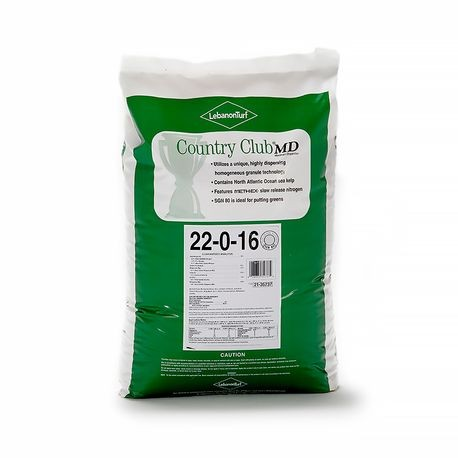 Lebanon - 22-0-16 Country Club Fertilizer with Meth-Ex - SGN 80 - 40 LB BAG