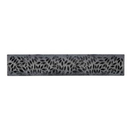 "NDS - 24"" Black Botanical Spee-D Channel Grate"