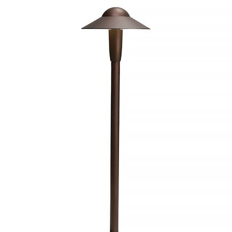 "Kichler - 6"" LED Dome Path Light, Textured Architectural Bronze"