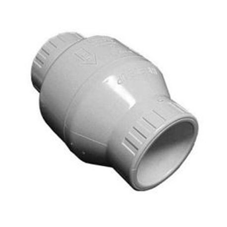 "Spears - 1-1/2"" PVC Utility Swing Check Valve THD EPDM"
